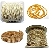 GOELX Jewellery Making Chains & Stone Lace Combo Set- Pack Of 4 Items