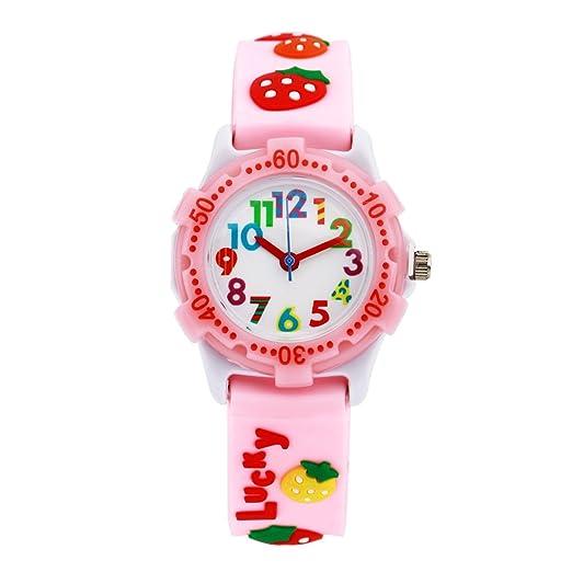 Niños niñas reloj, niños impermeable juguete enseñanza reloj profesor de tiempo Sports analógico Digital relojes regalos: Amazon.es: Relojes