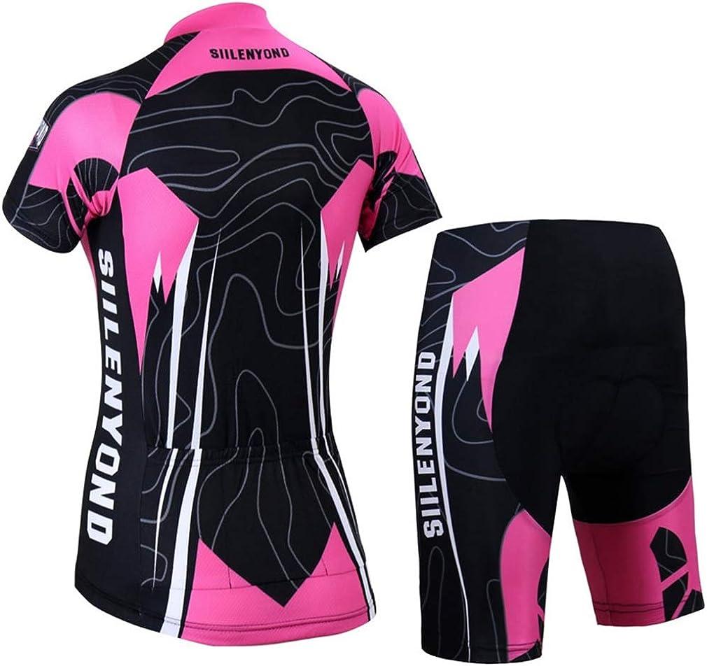 Maillot de ciclismo para mujer ropa de bicicleta camiseta de manga corta secado r/ápido X-Labor pantalones de ciclismo con almohadilla para sentarse