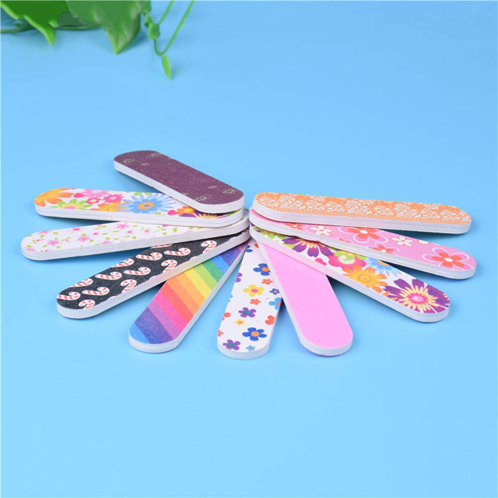 Nail Sand Strip Clearance , 12PCS Tools Art Nail File Grind Sand Block Double Sided Printing Polished Strip  by Little Story by Little Story (Image #2)
