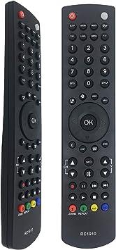 MOONN Nuevo reemplazo rc1910 Control Remoto para TV LCD LED Plasma, rc1910 Control Remoto para Sharp Toshiba Polaroid Bush TV Modelos específicos, Apto para 100 Marcas de TV: Amazon.es: Electrónica