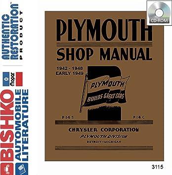 amazon com 1942 1947 1948 plymouth special deluxe shop service rh amazon com 1955 Plymouth 1955 Plymouth
