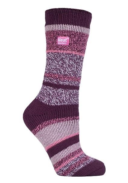 HEAT HOLDERS - Mujer Térmicos Cómodo Confortables Invierno Suave Fantasía Calientes Calcetines Colores para Frío Clima