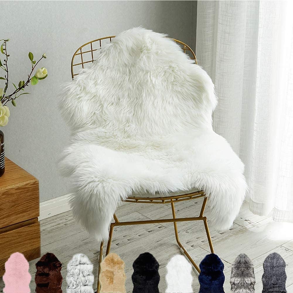 Shop Carvapet Luxury Soft Faux Sheepskin Chair Cover Seat Cushion Pad from Amazon on Openhaus
