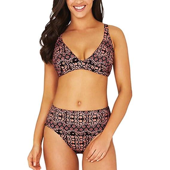 452042b0 K-Youth® Boho Bikini Mujer 2019 Push Up Brasileño Sexy Estampado Bikinis  para Mujeres