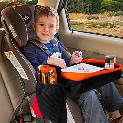 KIPTOP Toddler Car Seat Travel Tray With Reinforced Surface