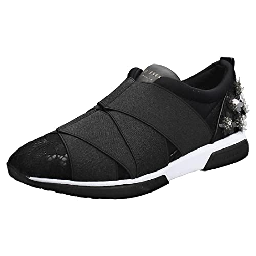 0275dc74a8374 Ted Baker Queanel Womens Slip On Trainers in Black - 6 UK: Amazon.co ...