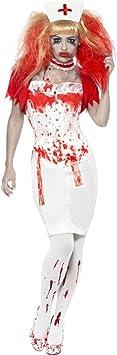 NET TOYS Traje de Enfermera Zombi Disfraz Halloween médico ...
