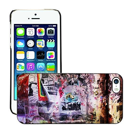 Premio Sottile Slim Cassa Custodia Case Cover Shell // V00002328 Circulaires Grungy // Apple iPhone 5 5S 5G