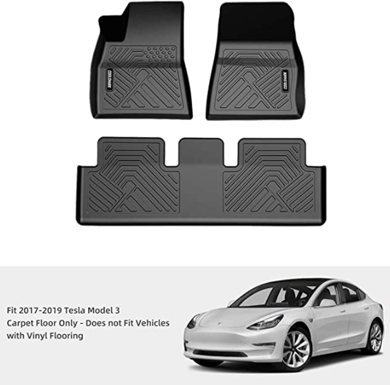 Tesla Model S Car Mats Carbon Tailored 2012+ RHD