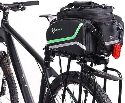 ROCKBROS Bolsa Trasera de Bicicleta con Funda Impermeable Alforjas ...