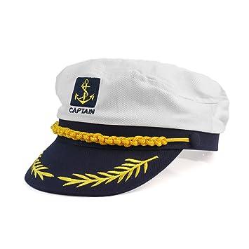 Nuevo Sombrero Gorra Gorro Capitš¢n Nš¢utico Para Disfraz de Buena Venta Blanco: Amazon.es: Deportes y aire libre