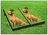 Cornhole Set Beanbag Toss Game W Bags Canine Dog Puppy Corn Hole Game Boards 50