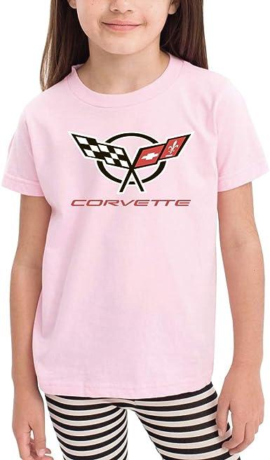 Queen Elena Logo-Corvette, impresión de Dibujos Animados, Camiseta para niños y bebés de Verano, Camisetas para niños y niñas, Ropa de algodón con Letras para niños pequeños Rosa Rosa 5-6 Años: Amazon.es: