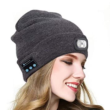 c5766643f6d Beanie Music Hat Compatible with Bluetooth LED Light Windproof and  Snowproof Headset Music headgear Cap Wireless Stereo Headphone Headset  Earphone ...
