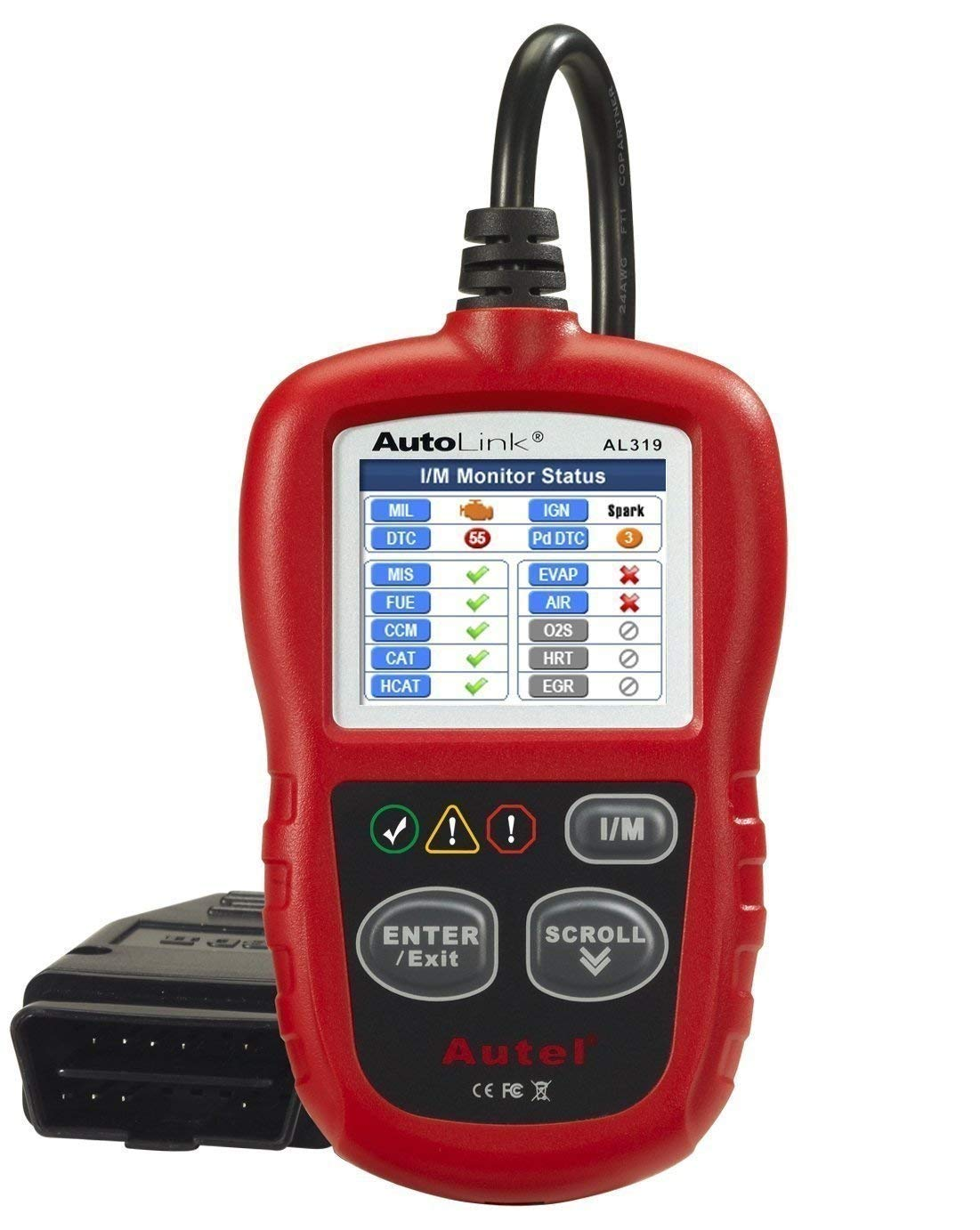 Autel AL319 Code Reader Engine Fault CAN Scan Tool Check Engine Light One-Click I/M Readiness