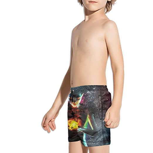8019620f28 Amazon.com: Ouxioaz Boys' Swim Trunk Colorful Art Abstract Space Wallpaper Beach  Board Shorts: Clothing