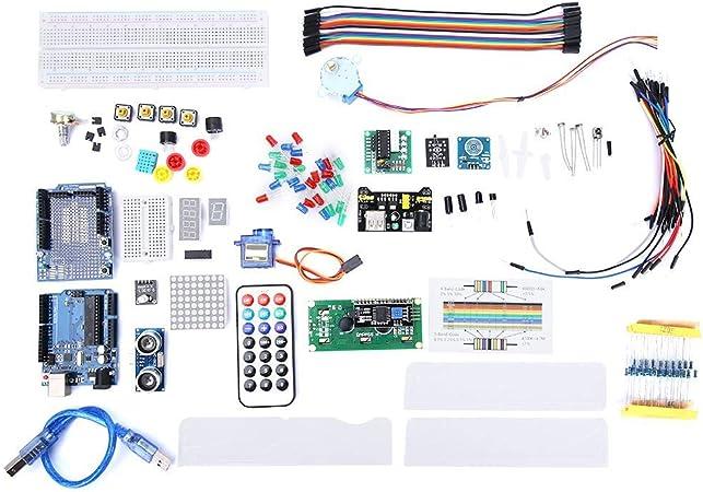 Super Starter Kit para R3 Mega 2560, Kit de tablero de pruebas nano robótico, K4-US para el proyecto Arduino, Kit de inicio completo, Equipado con tutoriales detallados y componentes confiables: Amazon.es: Hogar