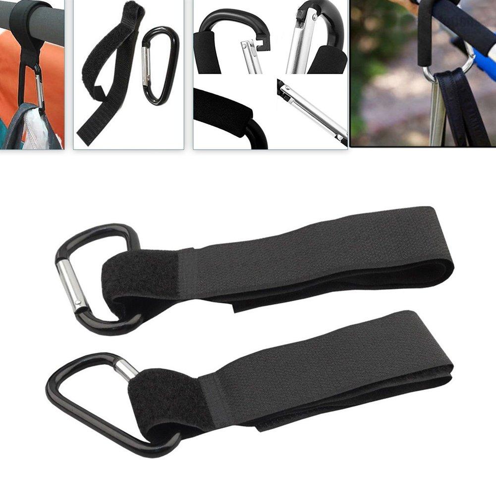 4 correas universales con mosquet/ón para llevar bolsas de la compra en el cochecito de beb/é o silla de paseo Everpert