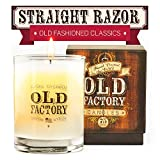 Scented Candles - Straight Razor - Decorative Aromatherapy - 11-Ounce Soy Candle - from Old Factory Candles