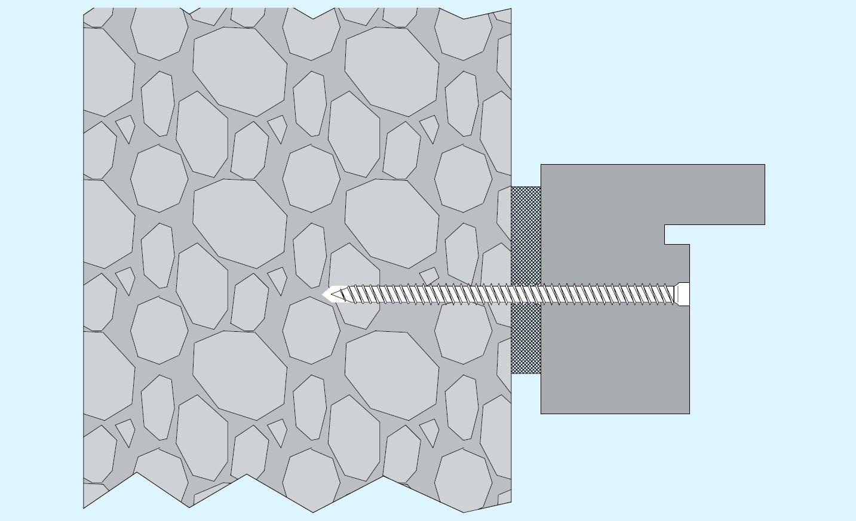 gris /Lote de 100/tornillos hormig/ón /7/ SFS Intec fb-zk-t30/ 533641