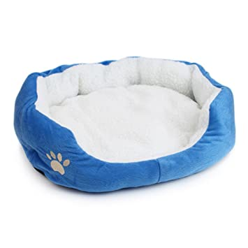 Aquir Mantas de Perro, Pet Dog Puppy Cat Suave y Cálida Almohada de Cama Kennel Mat, Blue-S: Amazon.es: Productos para mascotas