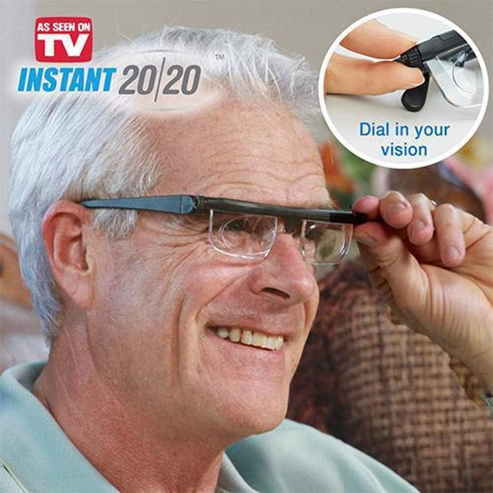 IFor Ajustable len Gafas de Lectura Miopía Anteojos 6D a + 3D Corrección Variable de la Lente de Aumento Binocular
