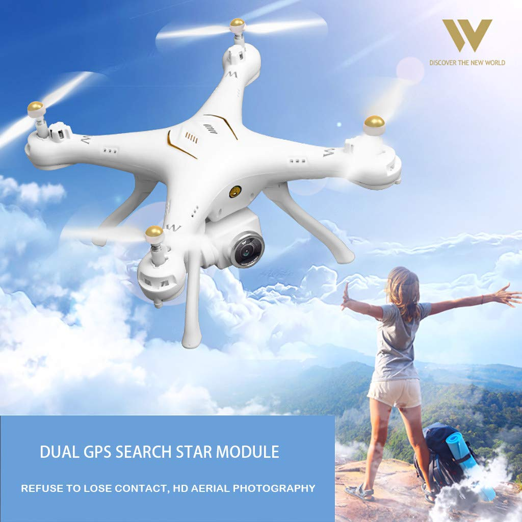 MOZATE Attop W9 WiFi GPS 1080P Camera Drone Altitude Hold Mode Headless Quadcopter (White) by MOZATE (Image #4)