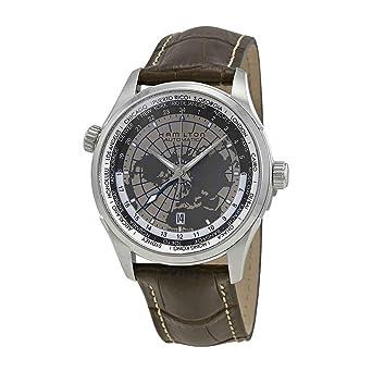 Hamilton Jazzmaster GMT Leather Mens Watch H32605581