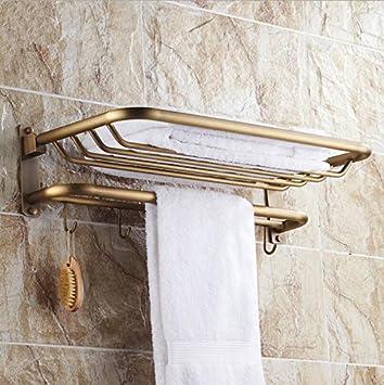 WHH Dobla la toalla estante/toallero que baño Kit parrillas , 57cm: Amazon.es: Hogar