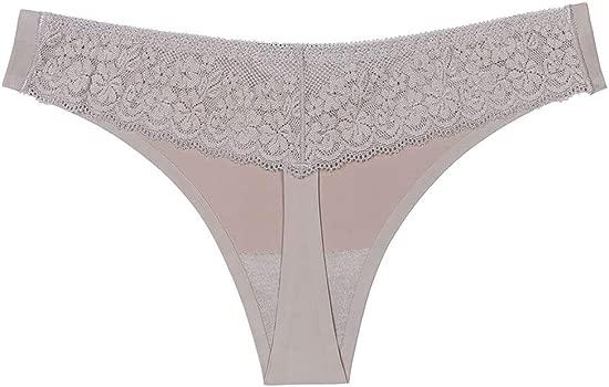 STRIR Bragas Tangas Invisibles sin Costuras de Talla Baja Sexys Braguita sin Costura Invisible por la Cintura Ropa Interior para Mujer Pack DE 6