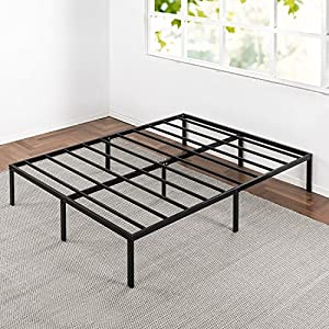 Best Price Mattress Bed Frame, 14″ Metal Platform Bed Frame w/Heavy Duty Steel Slat Mattress Foundation (No Box Spring Needed), Parent