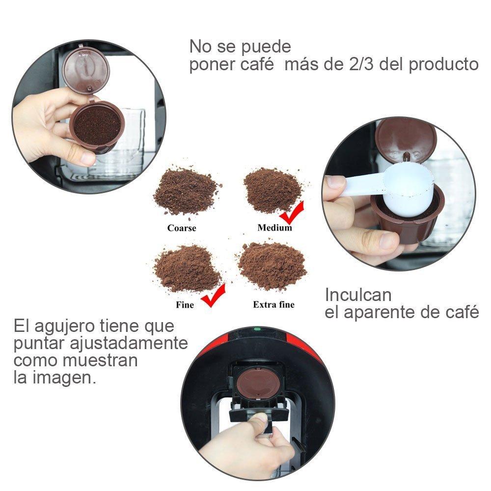 PACK MARRON, 3 YISER Pack C/ápsulas Filtros de Caf/é Recargable Color Marron Reutilizable para Cafetera Dolce Gusto