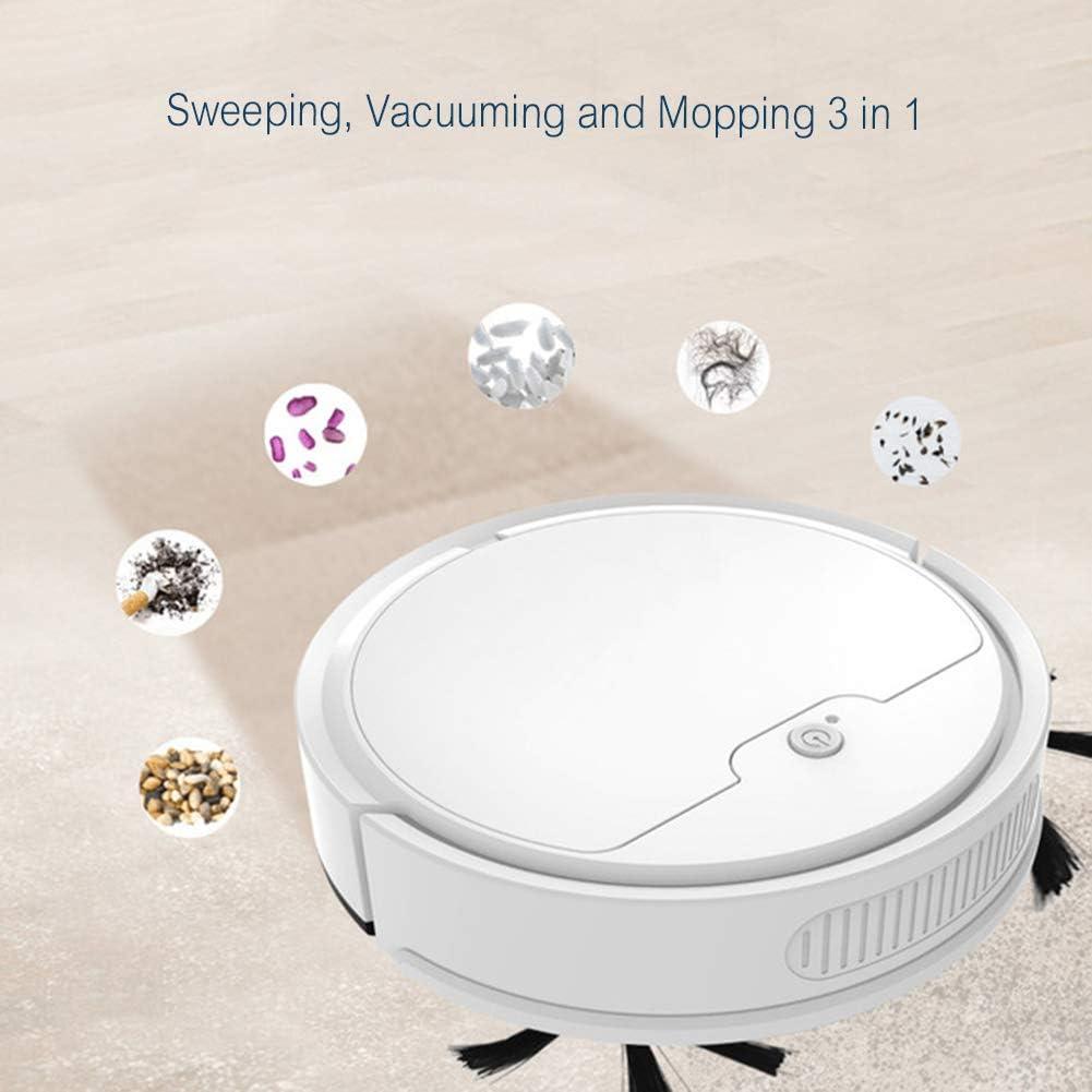 FAPROL Aspirateur Robot Direction Automatique Robot Aspirateur Capteurs Intelligents Obstacles Anti-Chute 400 ML Boîte À Poussière White