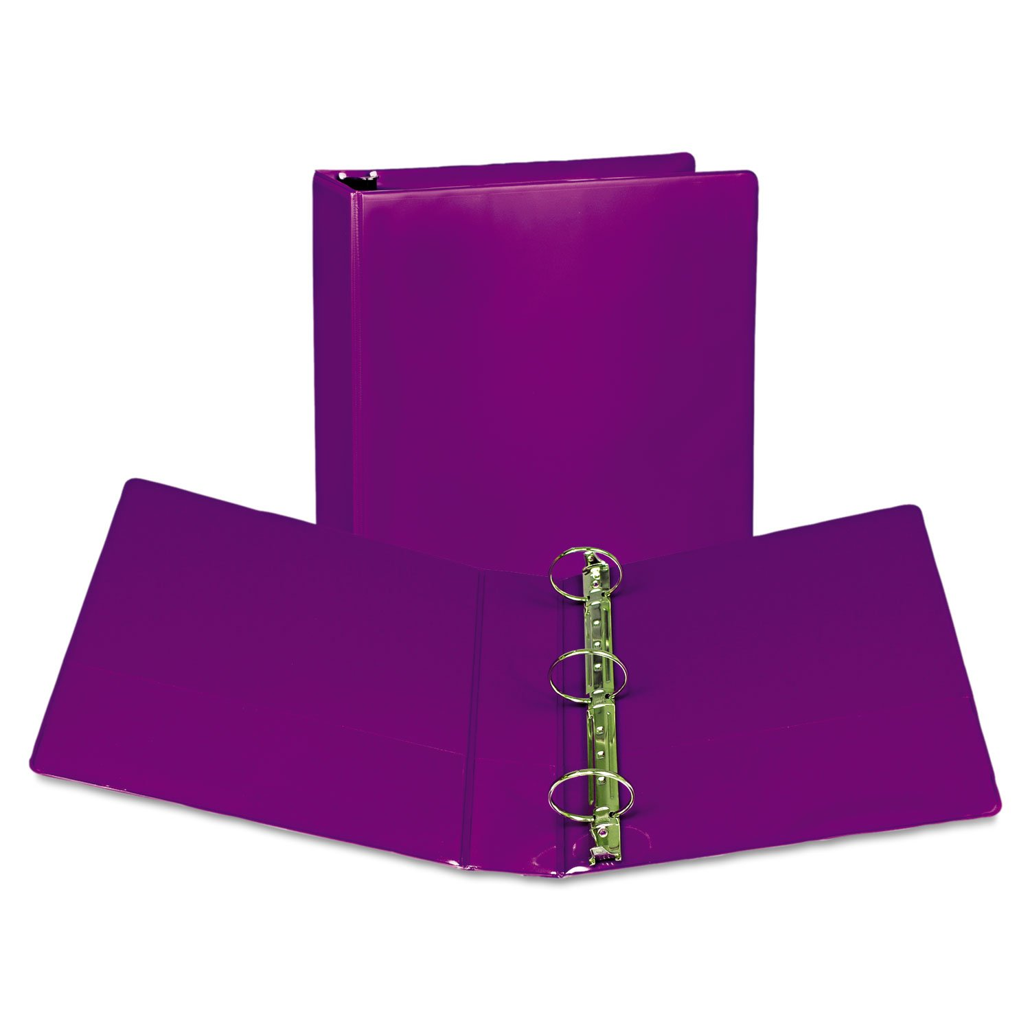 SAMSILL CORPORATION U86608 Fashion View Binder, Round Ring, 11 x 8-1/2, 2quot; Capacity, Purple, 2/Pack