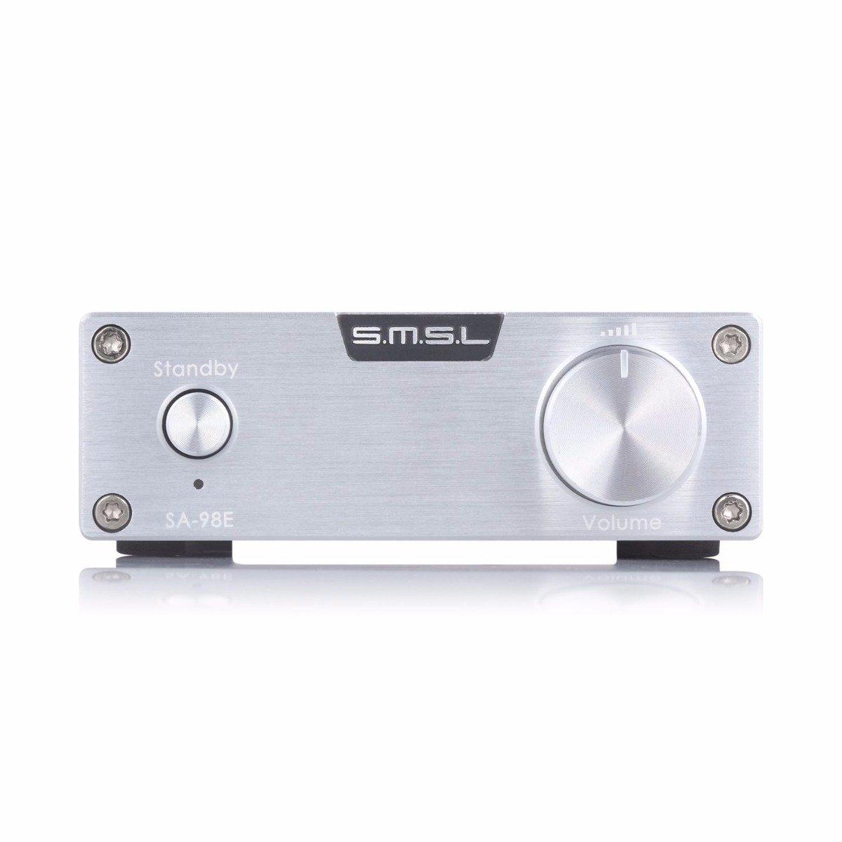 SMSL SA-98E SA-98E TDA7498E HiFiステレオデジタルミュージックMP3アンプAMP 160Wx2 B015J0PBEU +電源アダプターシルバー SMSL B015J0PBEU, 赤ちゃんデパートニワ:bd2b50f9 --- sharoshka.org