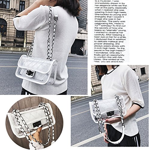 Beach Jelly S8 Lattice Bag Messenger Handbag Shoulder Fashion Transparent Clear Abuyall Waterproof Chain Pvc Bag pw5FxS