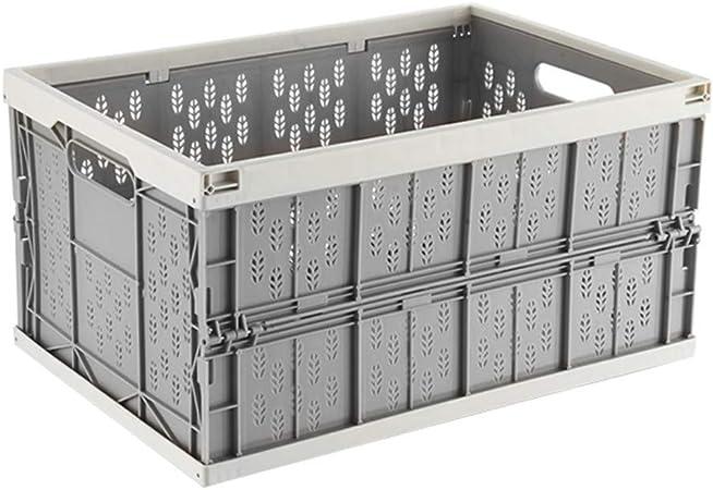Caja Plegable 2 PIEZAS Cesta de la Utilidad Almacenamiento Plástico Cesto Plegable Apilables Cajas Almacenaje Lea Cesta Ordenación Portátil Del Coche Envase Almacenamiento,Blanco: Amazon.es: Hogar