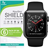 (6-Pack) Apple Watch 42mm Screen Protector (Series 3 2 1) RinoGear Case Friendly iWatch Screen Protector for Apple Watch…