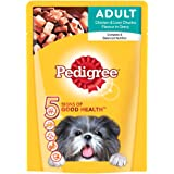 Pedigree Wet Dog Food, Chicken & Liver Chunks for Adult Dogs – 80g
