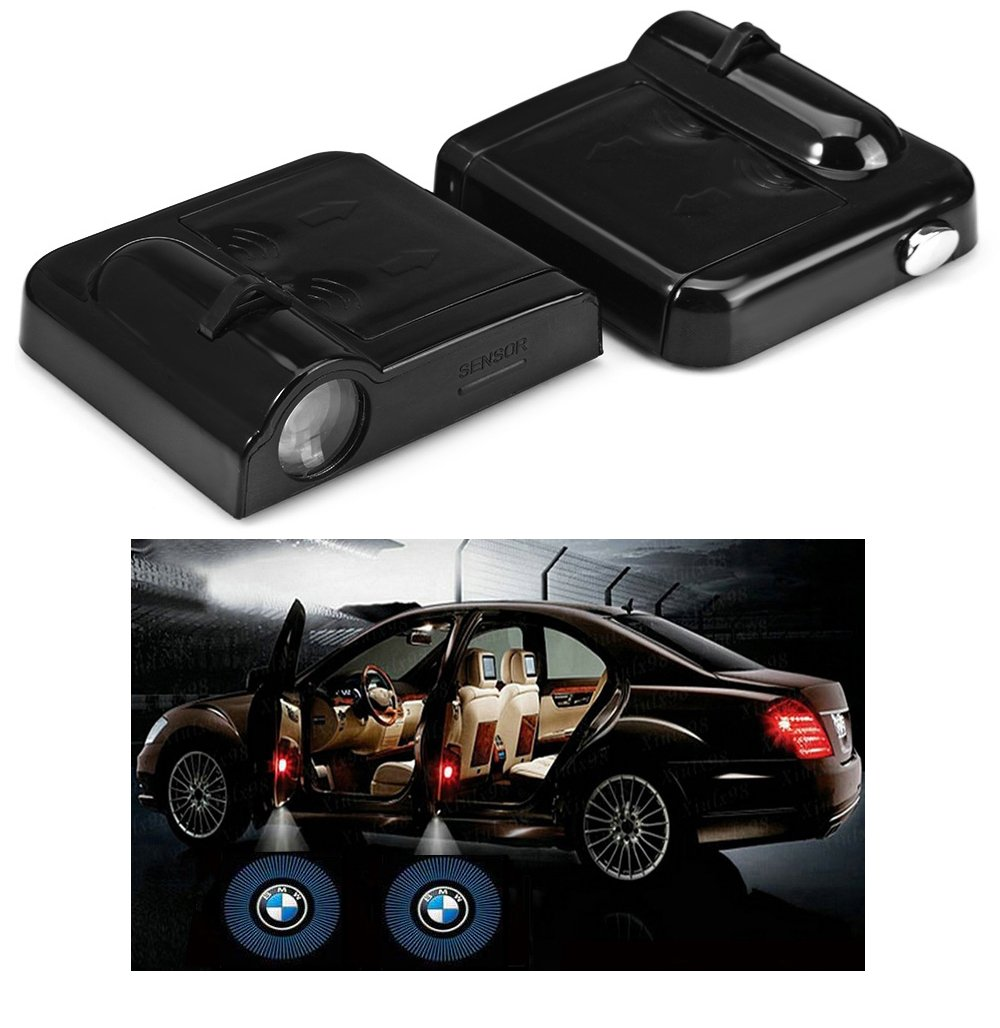 Fangfei 2x Wireless Laser Projector Car Door Step Courtesy Welcome Lights for Toyota Puddle Ghost Shadow LED Lights(For toyota)