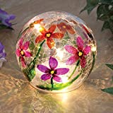 Bits and Pieces - LED Spring Floral Globe Light - Five Bright LED Lights Illuminate The Globe Covered in Colorful Flowers - Amazing Home Décor