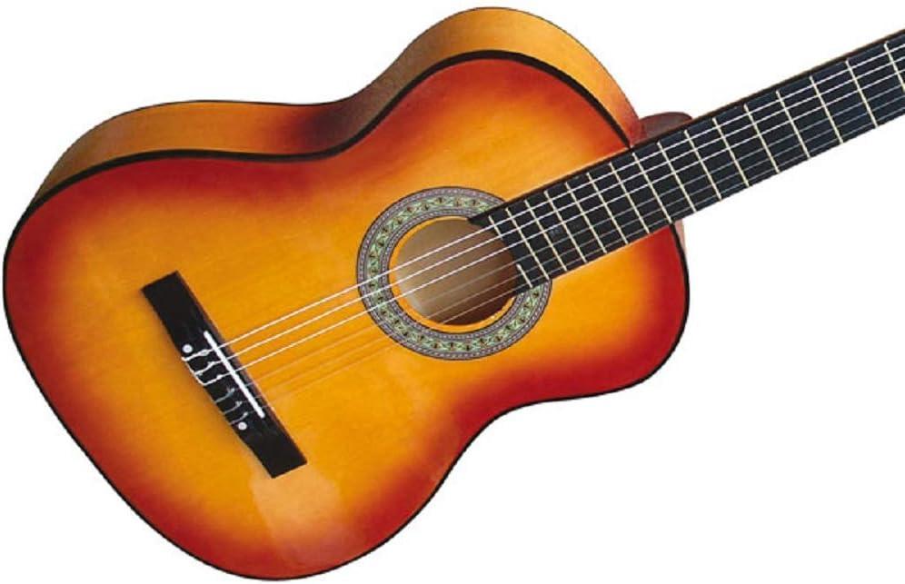 Guitarra española acústica - 4/4, de color marrón, con 6 cuerdas ...