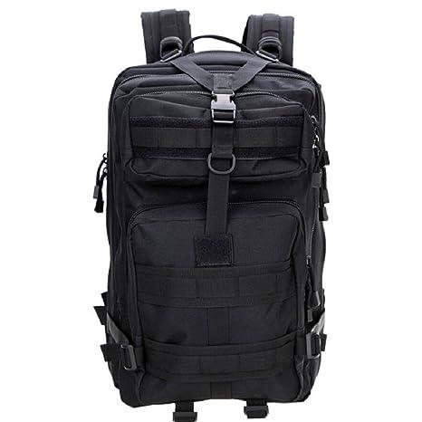 LJ&L Mochila al aire libre, mochila de 45 litros de gran capacidad, camuflaje al