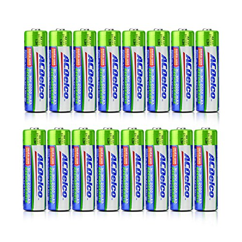 ACDelco Ni-MH 2000 mAh Precharged AA Rechargeable Batteries, 16-Count For Sale