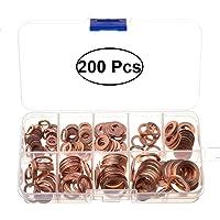 UKCOCO 200pcs arandela de cobre arandela surtido arandelas