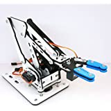 MicroBotLabs ArmUno 2.0 MeArm and Arduino Compatible DIY Robot Arm Kit with MeCon Motion Control Software and Arduino Source Code Via Download Link