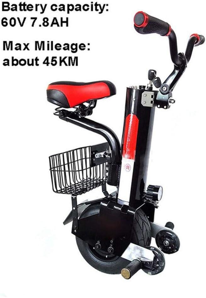 GJZhuan Equilibrio De Auto Eléctrico Monociclo, Una Rueda 500W Hub Motor Scooter Eléctrico con Neumáticos Sin Cámara Calle Barra De Tensión