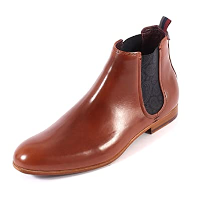 3d6ebf814097 Ted Baker Men s Whron Leather Pull On Chelsea Boot Tan  Amazon.co.uk  Shoes    Bags