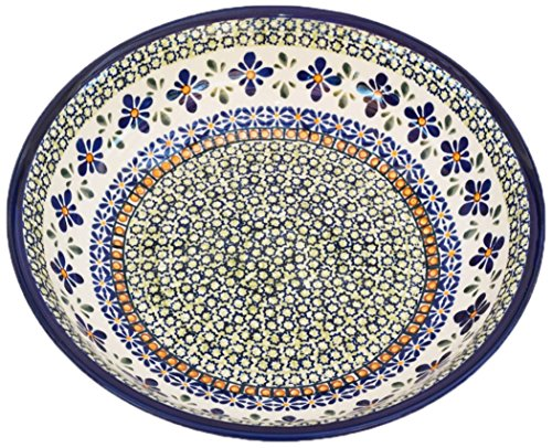 Pottery Avenue 1013/DU60 Polish Sweetie Pie Stoneware All Purpose Bowl, 9.75 inch, Blue/Green/Orange